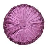 枕头紫色舍入 免版税库存照片