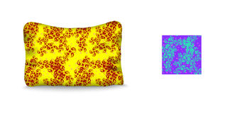 枕头和无缝的样式 皇族释放例证
