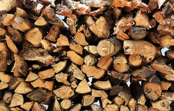 林业产业砍树和木材采伐 免版税库存照片