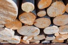 林业产业砍树 免版税库存图片