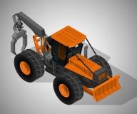林业机械 免版税库存照片