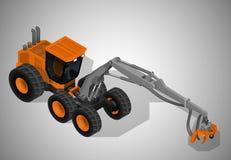 林业机械 向量例证