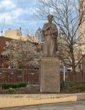 林则徐纪念雕象,第10个街道广场,唐人街,费城 免版税库存照片