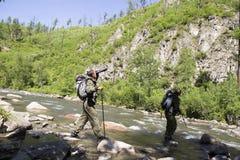 林务员在疆土附近做改道 免版税库存照片