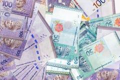林吉特马来西亚的基本的货币单位 库存照片