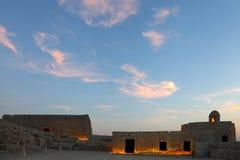 巴林堡垒上层  库存照片