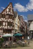 林堡省,德国,老中世纪镇的中心 库存照片