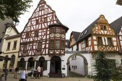 林堡省,德国,老城市的中心 免版税库存图片