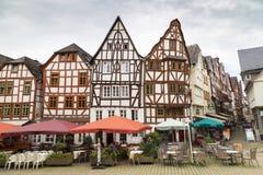 林堡省,德国,老城市,门面的中心半木料半灰泥 图库摄影