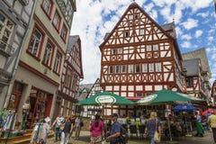 林堡省,德国,老镇的中心 免版税库存图片