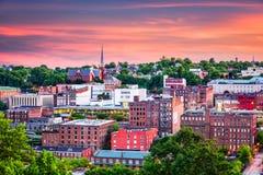 林奇堡,弗吉尼亚镇地平线 免版税库存照片