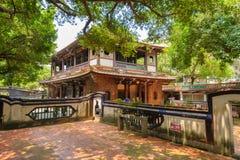 林家人庭院在台北 库存照片