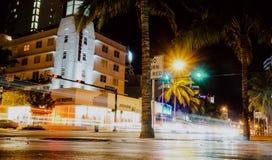 林斯大道,迈阿密海滩 库存图片