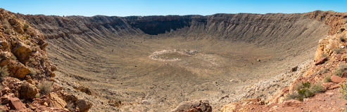 巴林杰陨石坑全景 免版税库存图片