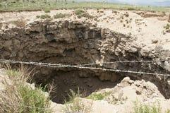 巴林杰陨石坑 免版税图库摄影