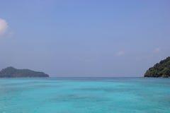 素林海岛,泰国透明的海洋  库存照片