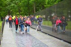 林璎设计的华盛顿特区的越战纪念碑 免版税图库摄影