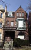 林肯公园褐砂石Italianate 免版税库存照片