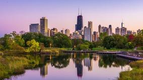 林肯公园,芝加哥,伊利诺伊地平线 股票录像