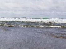 林肯城俄勒冈海滩太阳 库存照片