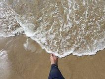 林肯城俄勒冈海滩太阳 免版税库存图片