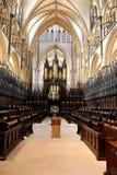 林肯大教堂唱诗班 免版税库存图片