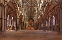 林肯大教堂教堂中殿 库存照片