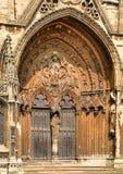 林肯大教堂门道入口 免版税库存照片