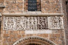 林肯大教堂雕刻 库存图片