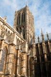 林肯大教堂 库存图片