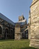 林肯大教堂B拱式扶垛  图库摄影