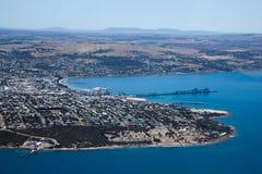 林肯港空中照片  南澳洲 免版税库存图片