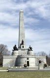 林肯的坟茔在橡树岭公墓,斯普林菲尔德,伊利诺伊 库存图片