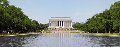 林肯纪念品全景 免版税图库摄影