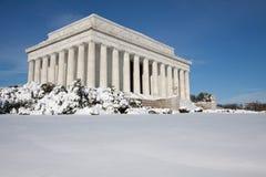 林肯纪念品冬天 免版税库存照片