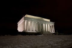 林肯纪念品晚上 库存图片