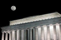 林肯纪念品晚上 免版税库存图片