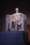 林肯纪念品雕象 免版税库存图片