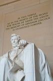 林肯纪念品 免版税库存图片