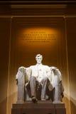 林肯纪念堂在晚上 免版税库存图片