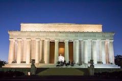 林肯纪念堂夜 免版税图库摄影