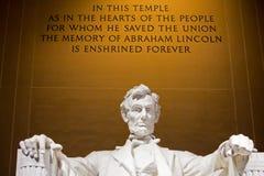 林肯纪念堂寺庙 库存照片