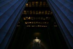 林肯纪念堂广角看法  库存照片