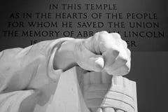 林肯纪念堂手 库存图片
