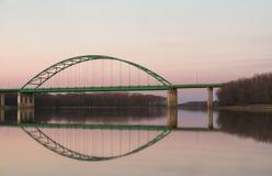 林肯纪念堂桥梁,伊利诺伊 免版税库存照片