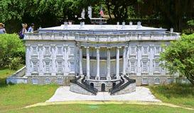 林肯纪念堂的复制品世界的深圳窗口的 库存照片