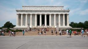林肯纪念堂的时间间隔- 4K - 4096x2304 股票视频