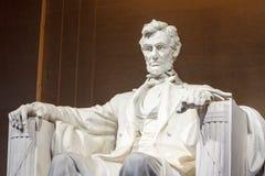 林肯纪念堂雕象华盛顿特区 库存照片