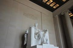 林肯纪念堂雕象 免版税库存照片