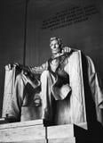 林肯纪念堂雕象 免版税库存图片